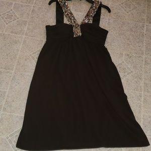 Single brand Nordstroms black sequin strap dress